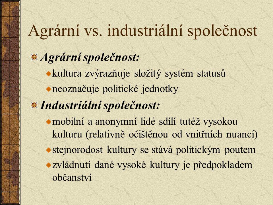 Agrární vs.