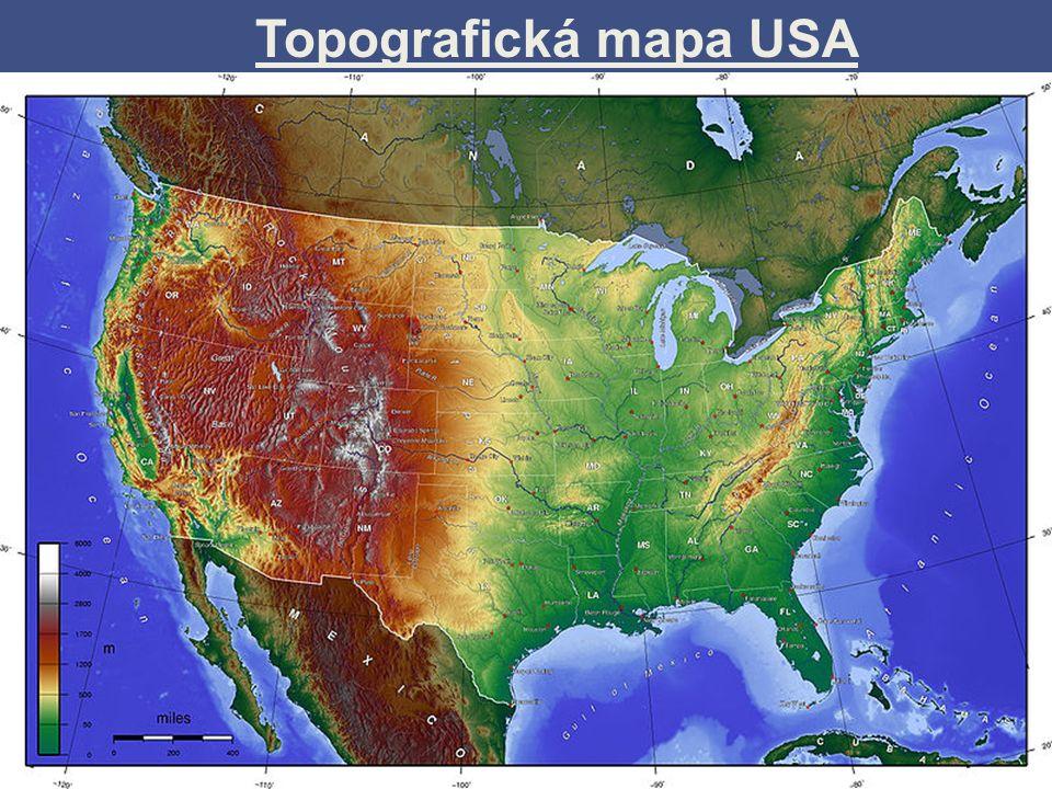Satelitní snímek - USA