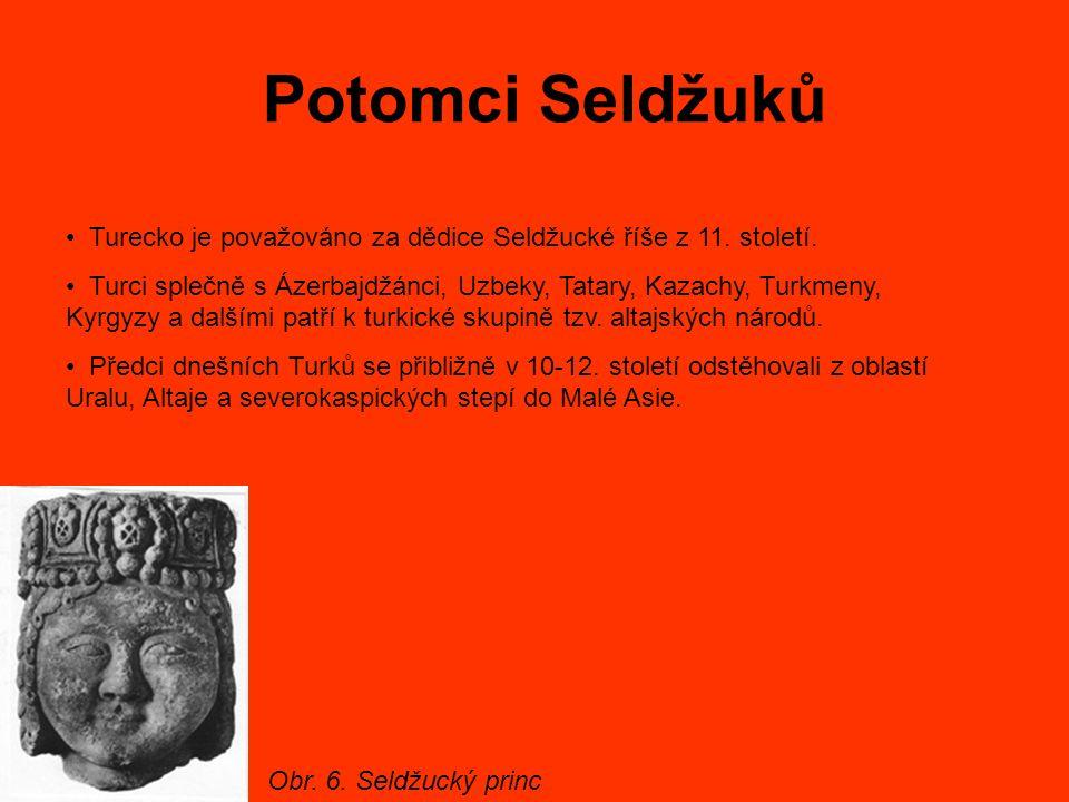 Potomci Seldžuků Turecko je považováno za dědice Seldžucké říše z 11. století. Turci splečně s Ázerbajdžánci, Uzbeky, Tatary, Kazachy, Turkmeny, Kyrgy