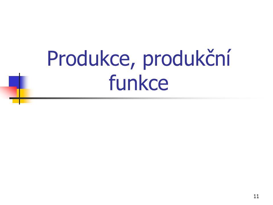 11 Produkce, produkční funkce