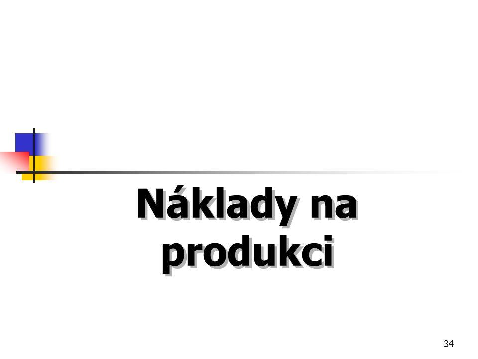 34 Náklady na produkci