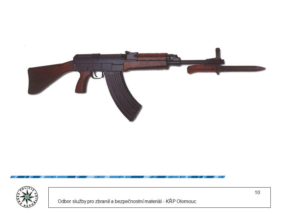 Odbor služby pro zbraně a bezpečnostní materiál - KŘP Olomouc 10