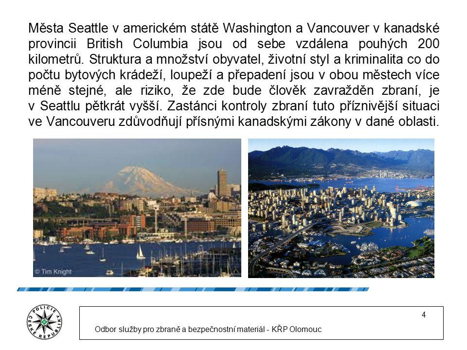 Města Seattle v americkém státě Washington a Vancouver v kanadské provincii British Columbia jsou od sebe vzdálena pouhých 200 kilometrů.