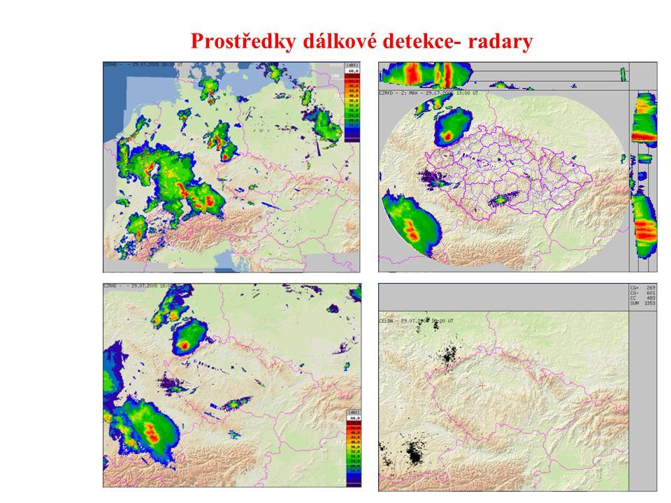 Prostředky dálkové detekce- satelitní snímky