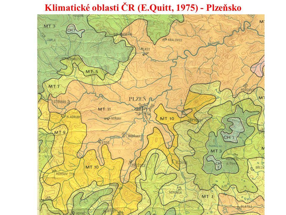 Maximální teplotaPraha Uhříněves40,2°C27.7.1983 Minimální teplotaLitvínovice u Č.B-42,2°C1929 Maximální denní srážkaNová Louka345,1 mm29.7.1897 Maximální výška sněhuLabská bouda315 cm30.3.1992 Podnebí ČR Podnebí ČR lze označit jako přechodné mezi přímořským a pevninským, oba vlivy se zde promítají Kontinentalita v podobě vyšší proměnlivosti srážek i teplotních rozdílů roste směrem k východu Výrazná je změna klimatických prvků s nadmořskou výškou (zvyšování srážek, snižování teploty… Nejchladnější a nejdeštivější jsou pohraniční horské masívy, nejteplejší v Čechách Polabí a Poohří na Moravě jižní a střední Morava