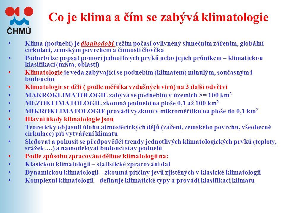 foto I. Klima a klimatický systém