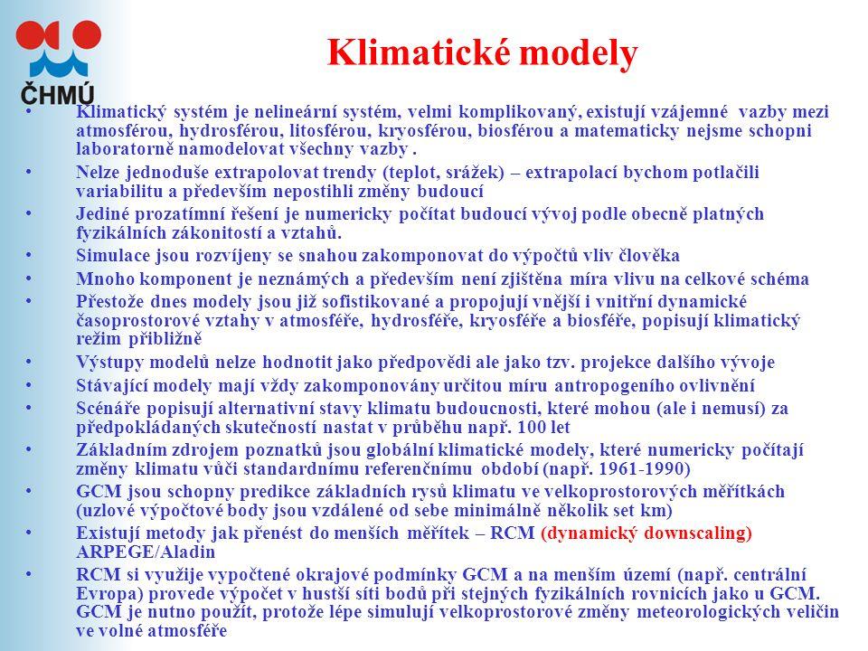 VI. Modelování klimatu a klimatické scénáře