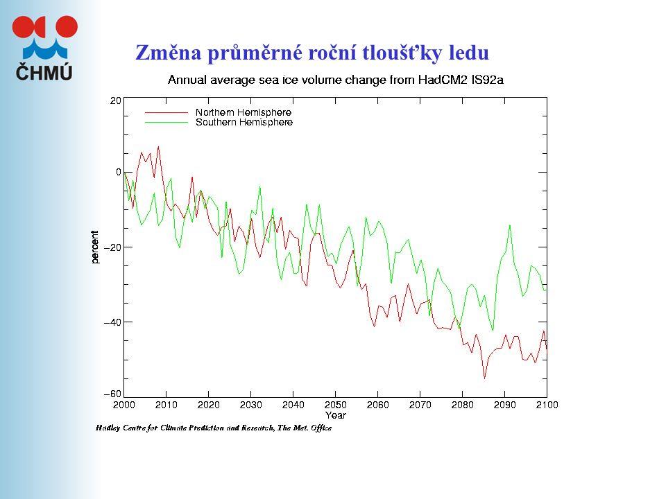 Pravděpodobné změny klimatu – model HadCM2