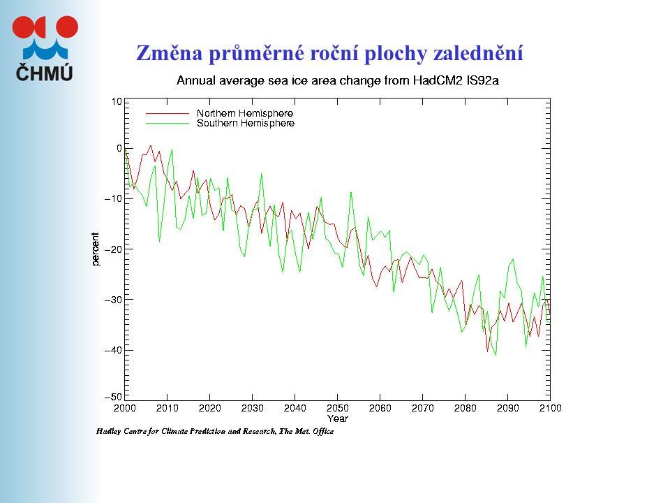 Změna průměrné roční tloušťky ledu
