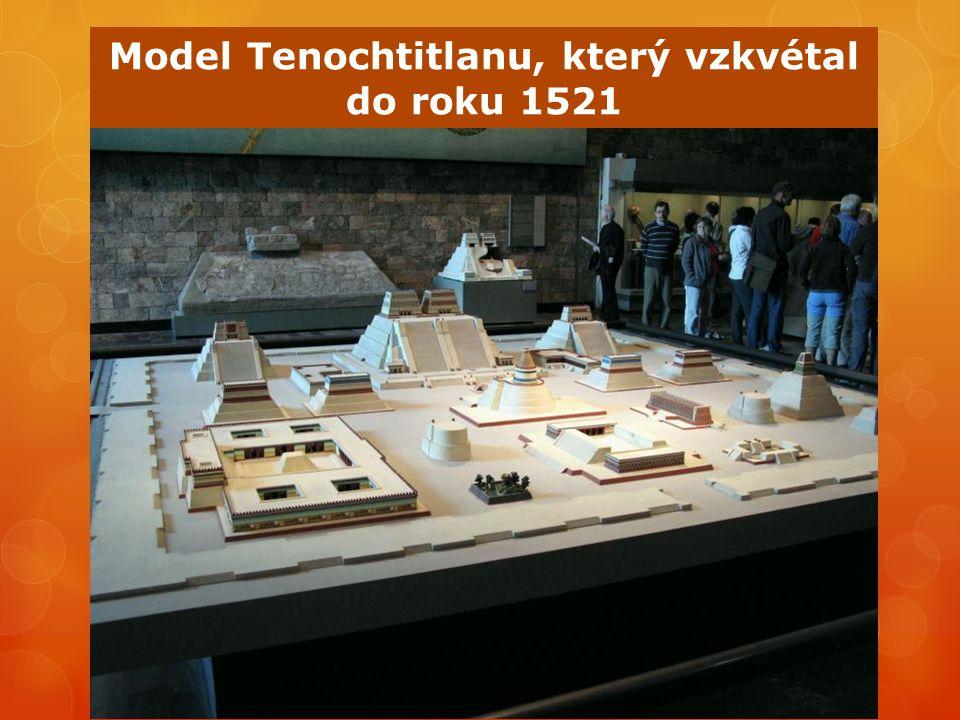 Model Tenochtitlanu, který vzkvétal do roku 1521