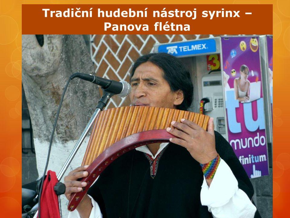 Tradiční hudební nástroj syrinx – Panova flétna