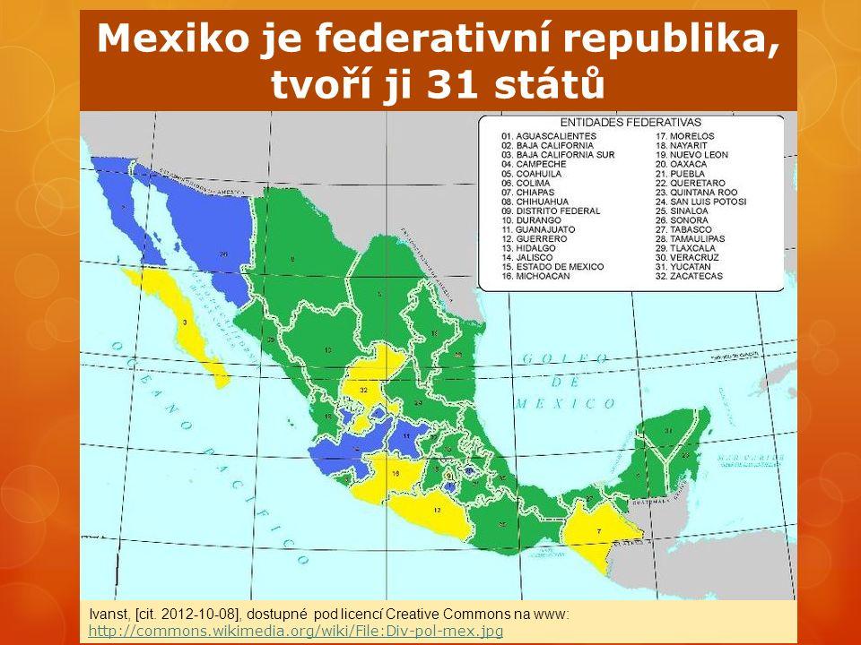 Stromový kaktus v biosférické rezervaci Tehuacan