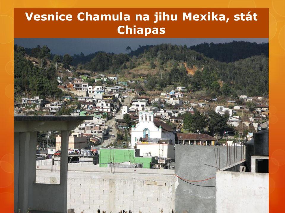 Vesnice Chamula na jihu Mexika, stát Chiapas