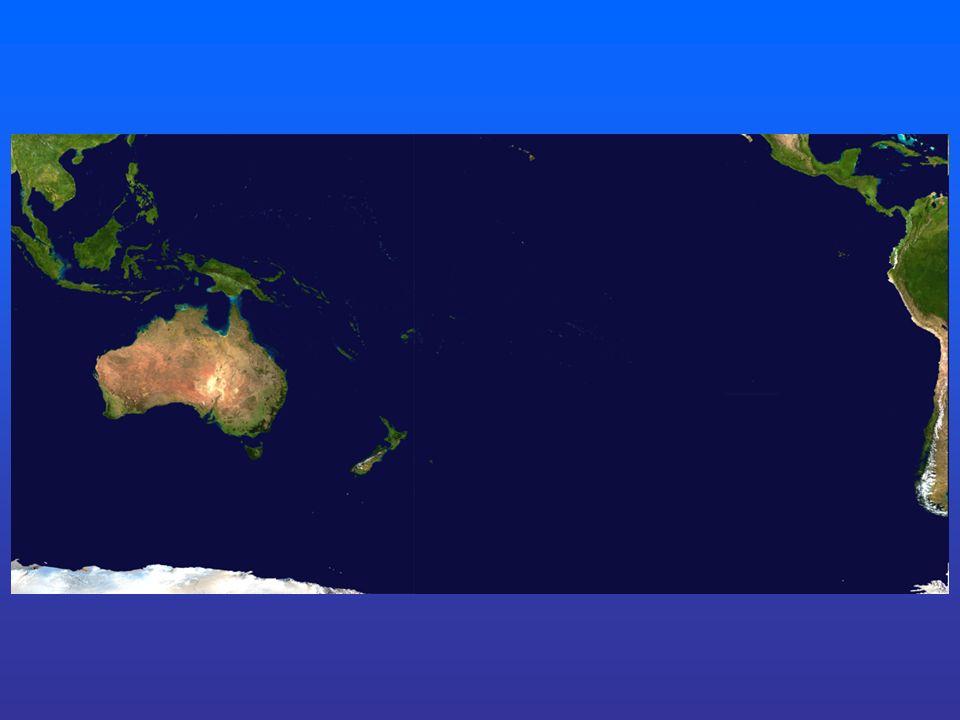 Satelitní snímek Severní ostrov – jezero Taupo a vulkán Ruapehu Jižní - ledovce Fjordy – jižní ostrov