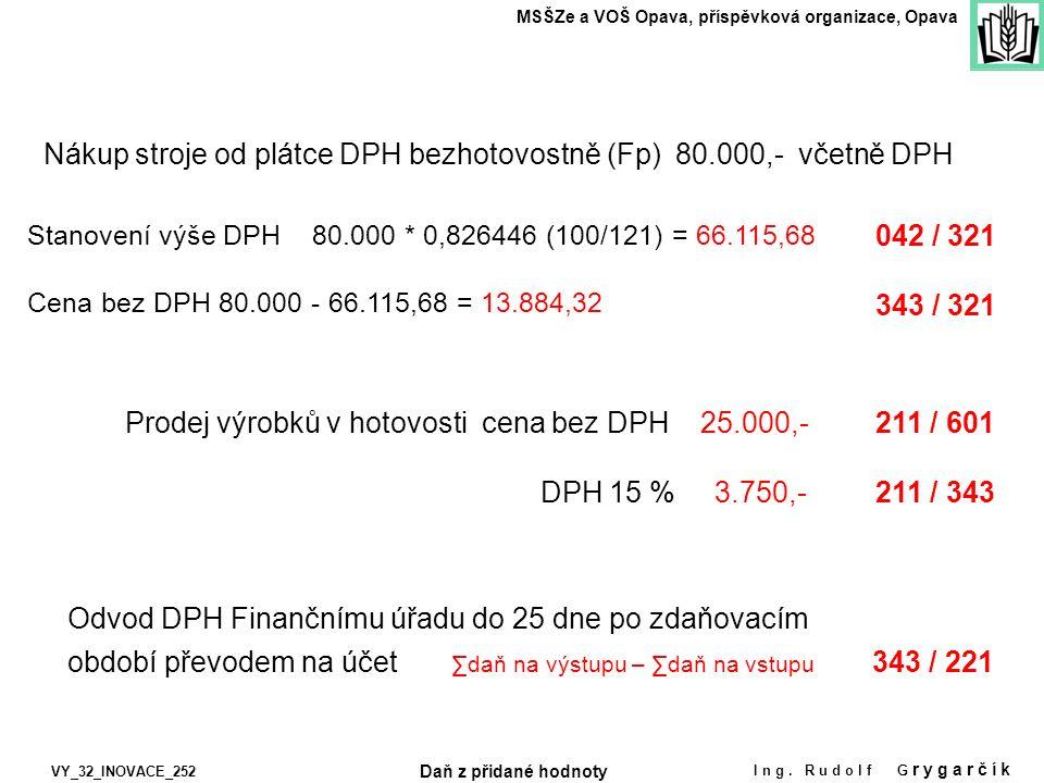 MSŠZe a VOŠ Opava, příspěvková organizace, Opava Ing.