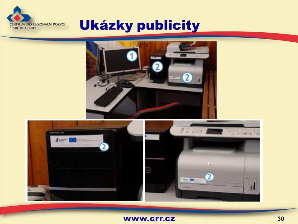 www.crr.cz 30 Ukázky publicity