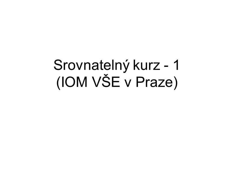 Srovnatelný kurz - 1 (IOM VŠE v Praze)