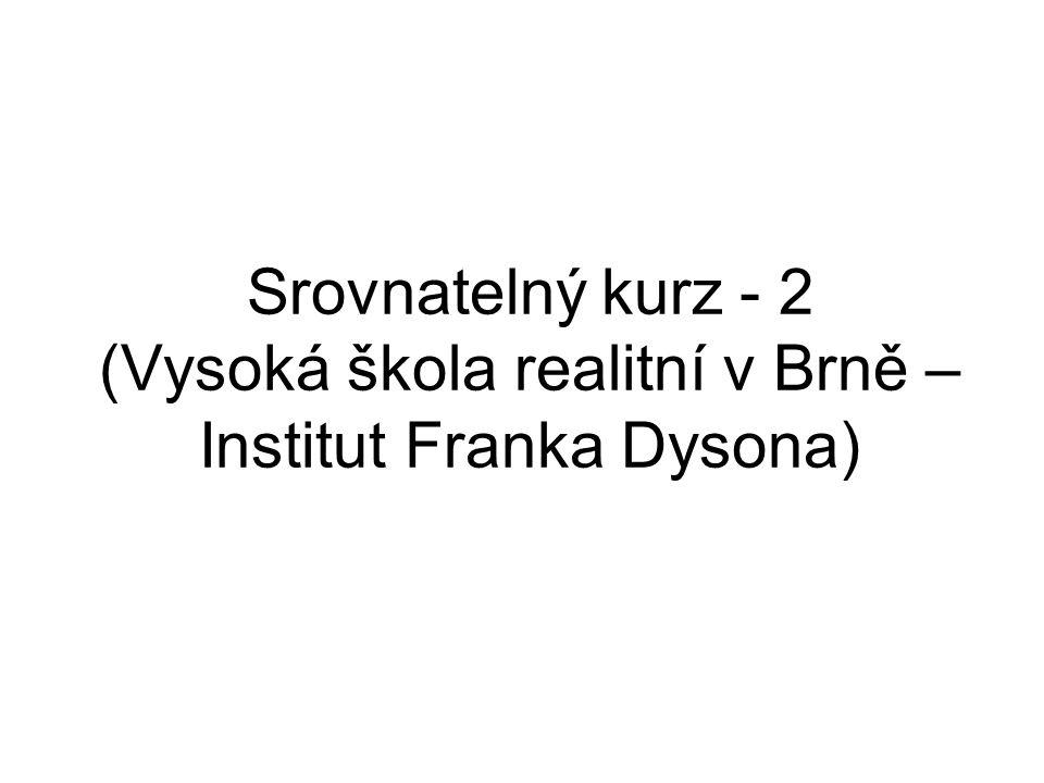 Srovnatelný kurz - 2 (Vysoká škola realitní v Brně – Institut Franka Dysona)