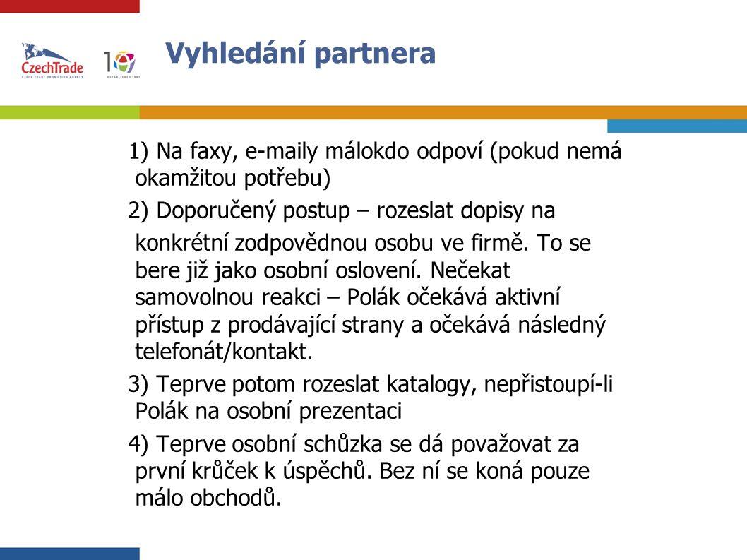 15 Komunikace při jednání  - Lze doporučit jasné a stručné vyjadřování, ale s přátelským zanícením, neboť Poláci jsou svým charakterem velmi přátelští, jsou emotivní a často věci řešeny srdcem jsou polovinou úspěchu…  - Vhodné je přistupovat k jednání i problémům s důvěrou, že se je podaří překonat, s optimistickým výrazem v obličeji, MUSÍ BÝT VŽDY VIDĚT PRAKTICKÉ ŘEŠENÍ A ŽE OBCHOD JE PROVEDITELNÝ A VELMI VÝHODNÝ PRO POLSKOU STRANU.