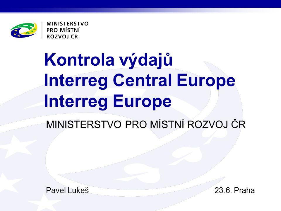 MINISTERSTVO PRO MÍSTNÍ ROZVOJ ČR Pavel Lukeš23.6.