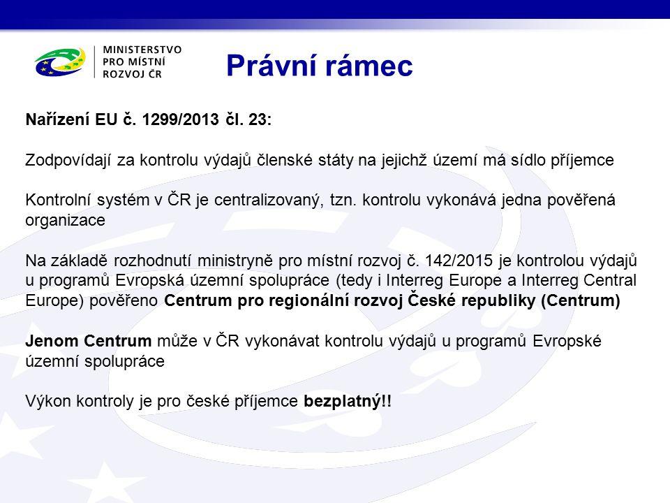 1.Nařízení EU zvláště: č. 1303/2013 – tzv. obecné nařízení č.