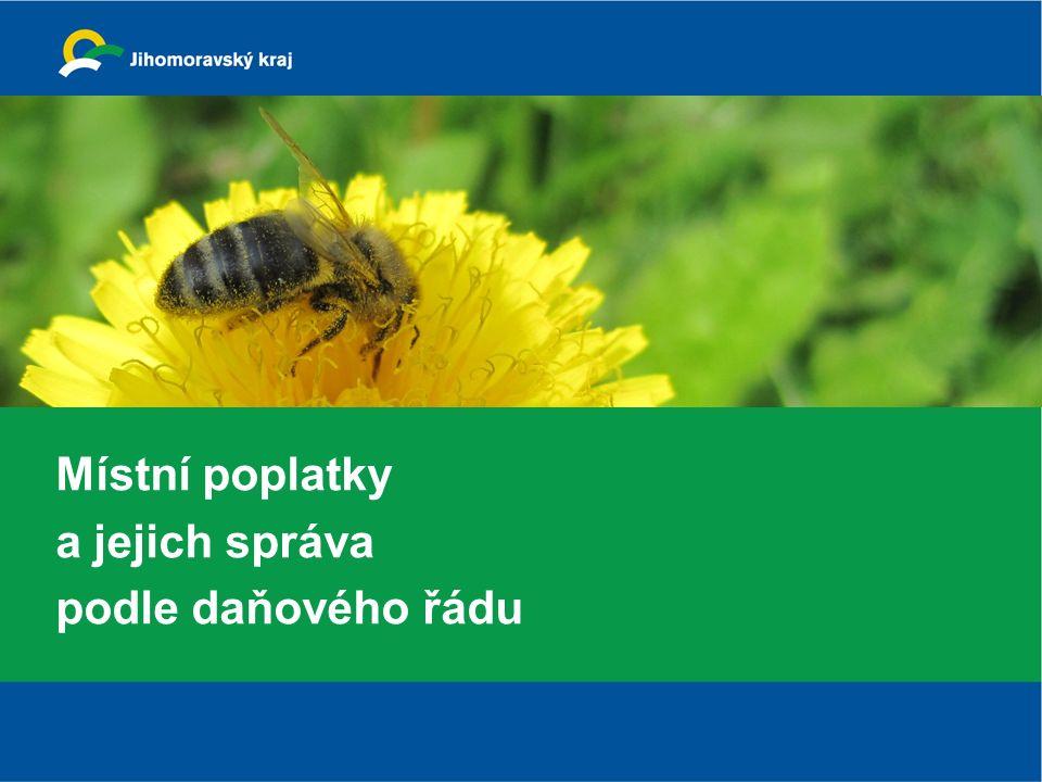 Místní poplatky Podle zákona č.