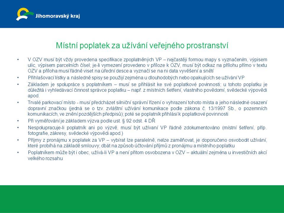 Místní poplatek z ubytovací kapacity / za lázeňský n.