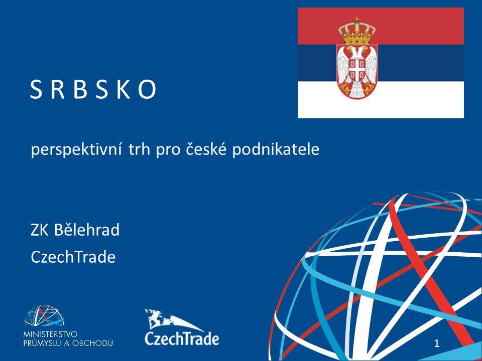 1 Váš průvodce zahraničními trhy 1 S R B S K O perspektivní trh pro české podnikatele ZK Bělehrad CzechTrade