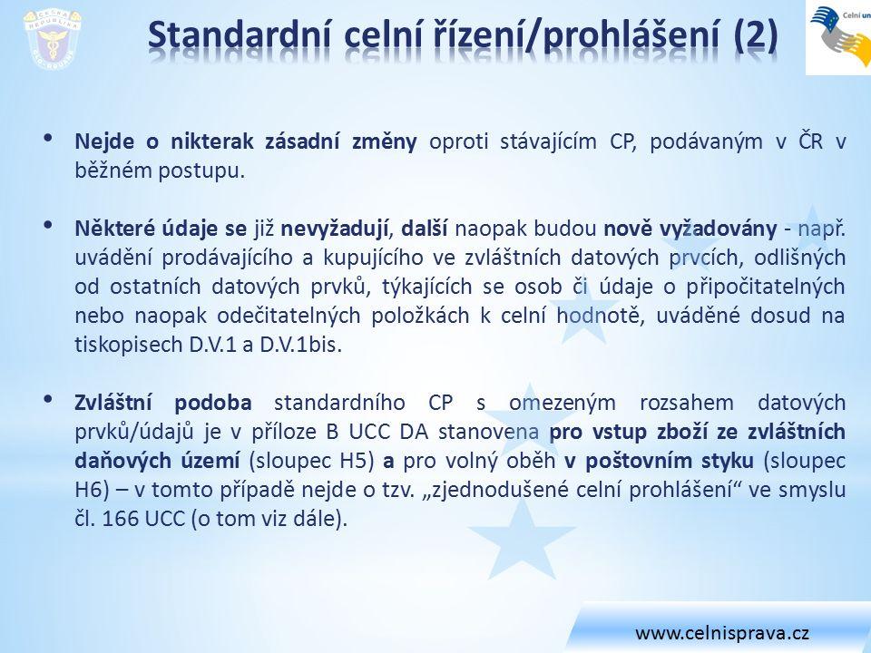 Nejde o nikterak zásadní změny oproti stávajícím CP, podávaným v ČR v běžném postupu. Některé údaje se již nevyžadují, další naopak budou nově vyžadov