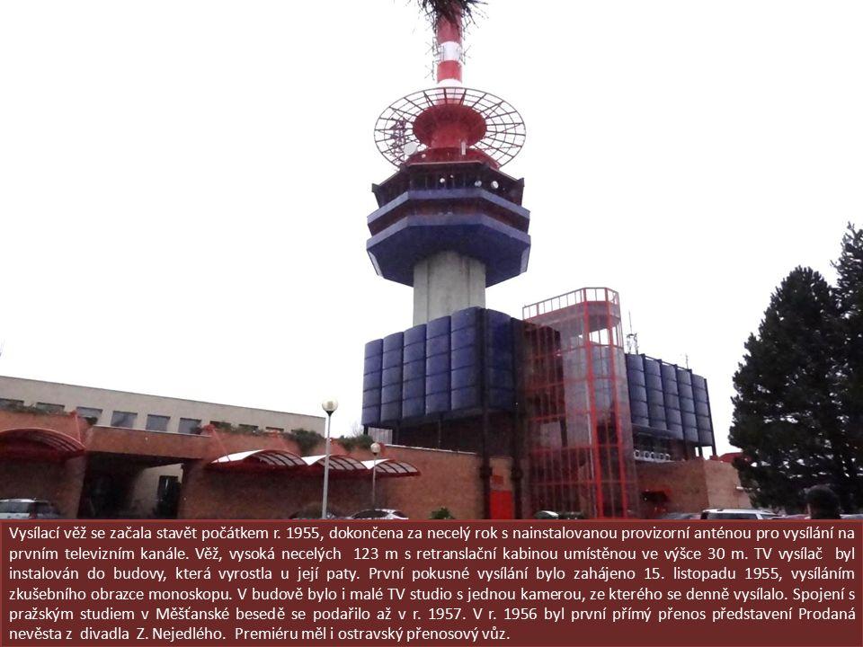 Vysílací věž se začala stavět počátkem r.