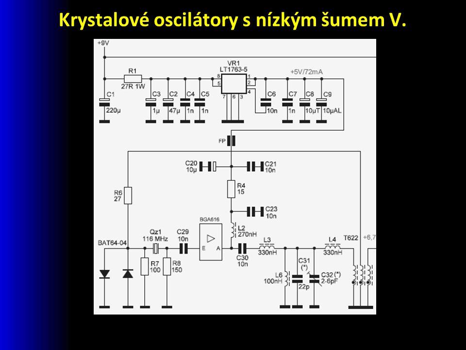 Krystalové oscilátory s nízkým šumem V.