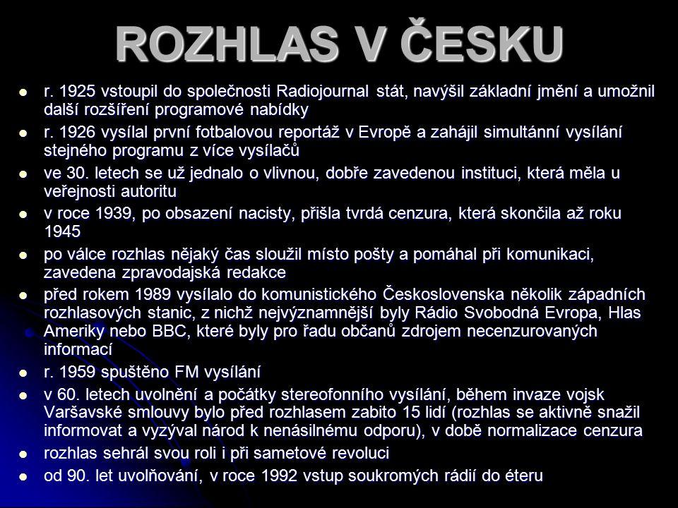 ROZHLAS V ČESKU r.