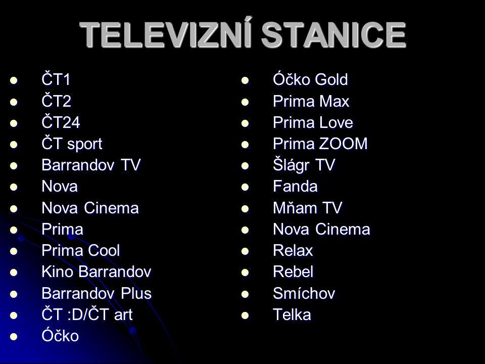 T E L E V I Z E přímé přenosy promítá filmy určené původně do kin natáčí vlastní filmy reklamy novým uměním jsou SERIÁLY - dramatické audiovizuální dílo rozdělené na několik dílů, některé seriály se dělí na sezóny - obsahují zpravidla pevný počet dílů, který se odvysílá v průběhu jednoho roku a) v ícedílná produkce na literární předlohu b) z každodenního života = soap oper - telenovela (televizní román) a sitcom (situační komedie) = díla bez vysokých uměleckých cílů, vytvářená a vysílaná především pro pobavení, jednoduchý děj s důrazem na city a emoce či komické situace, vyšší počet dílů a častá vysílací frekvence