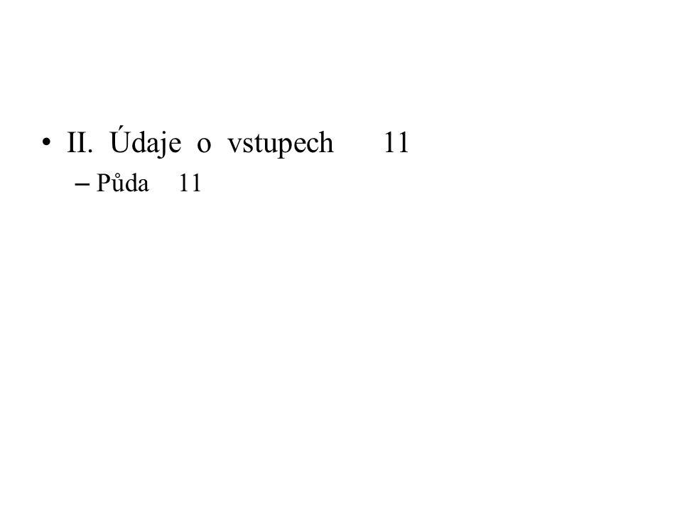 II. Údaje o vstupech11 – Půda11
