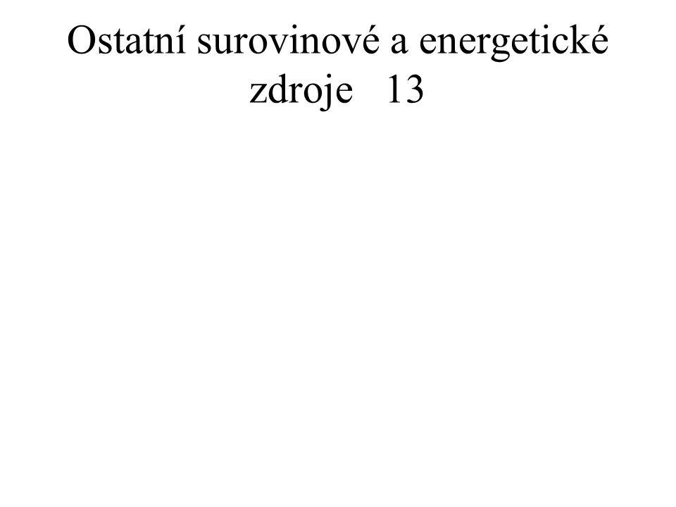 Ostatní surovinové a energetické zdroje13