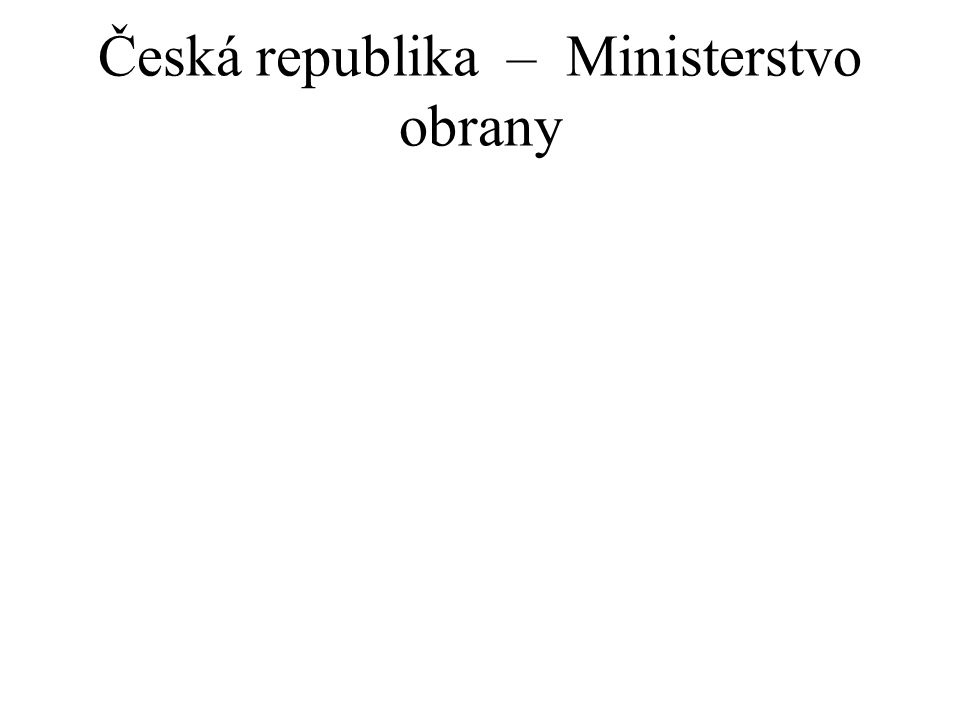 Česká republika – Ministerstvo obrany