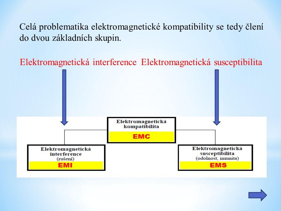 Celá problematika elektromagnetické kompatibility se tedy člení do dvou základních skupin.