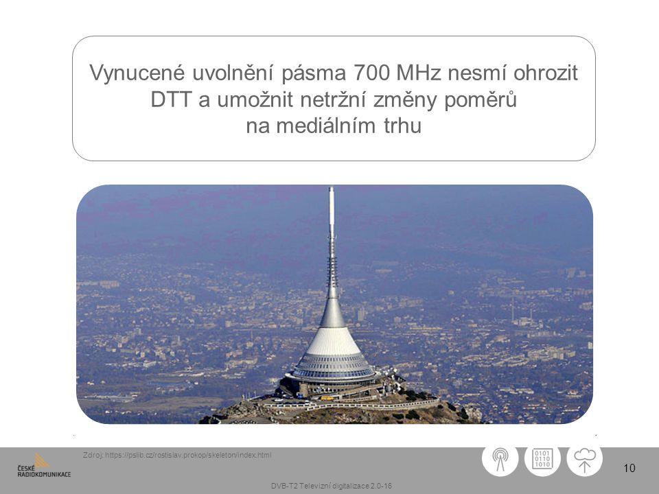 10 Zdroj: https://pslib.cz/rostislav.prokop/skeleton/index.html Vynucené uvolnění pásma 700 MHz nesmí ohrozit DTT a umožnit netržní změny poměrů na me