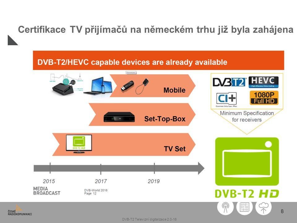 8 Certifikace TV přijímačů na německém trhu již byla zahájena DVB-T2 Televizní digitalizace 2.0-16
