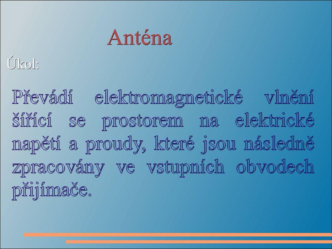 Anténa Úkol: