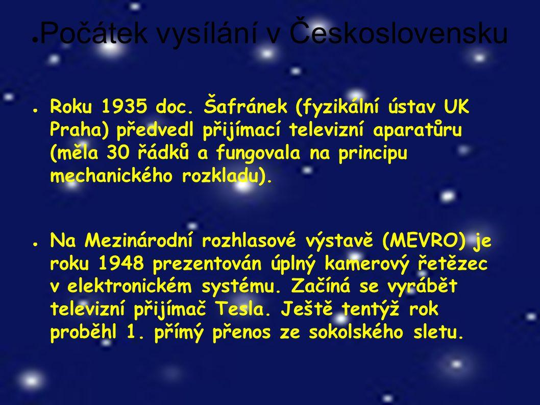 ● Počátek vysílání v Československu ● Roku 1935 doc.