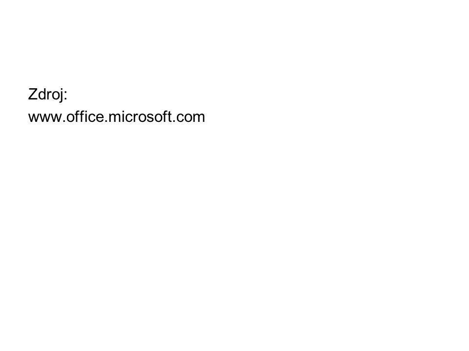 Zdroj: www.office.microsoft.com