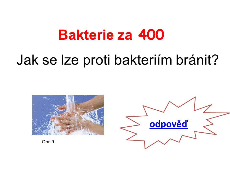 Bakterie za 400 Jak se lze proti bakteriím bránit odpověď Obr. 9