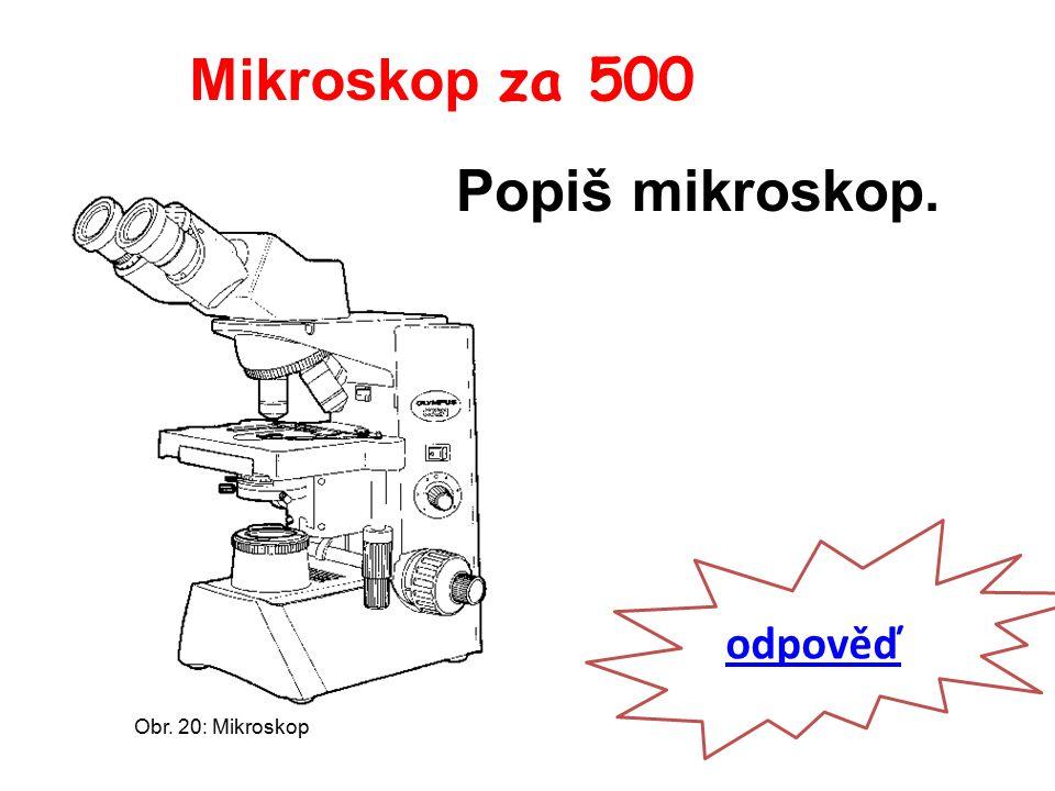 Mikroskop za 500 odpověď Popiš mikroskop. Obr. 20: Mikroskop
