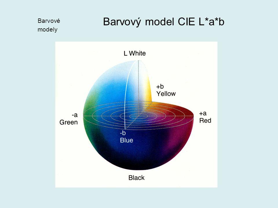 Barvový model CIE L*a*b Barvové modely