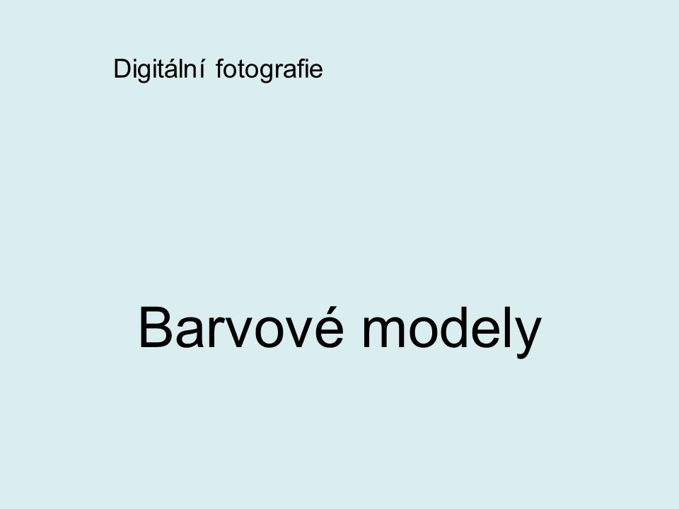 Digitální fotografie Barvové modely
