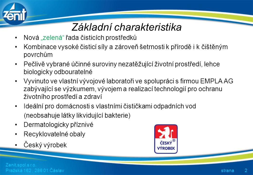 Zenit,spol.s r.o. Pražská 162, 286 01 Čáslav strana13 Prodejní stojan: