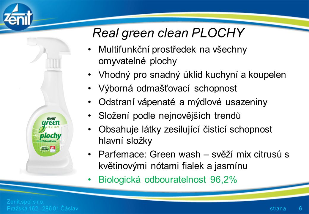 Real green clean TOALETY Zenit,spol.s r.o.