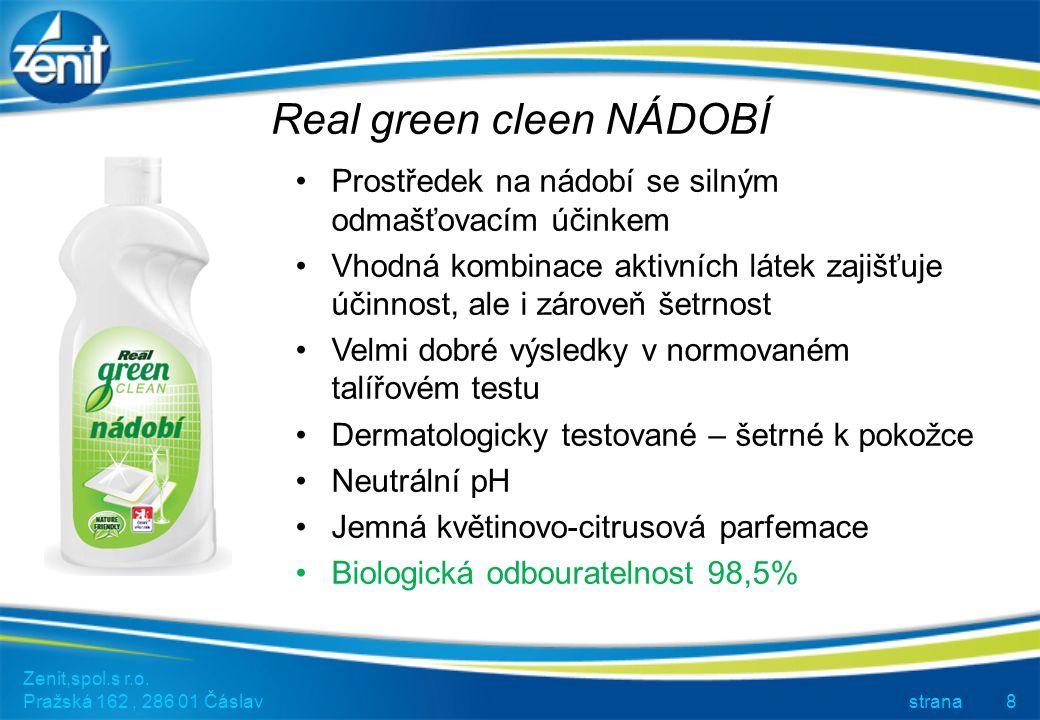 Real green clean PRACÍ GEL Zenit,spol.s r.o.