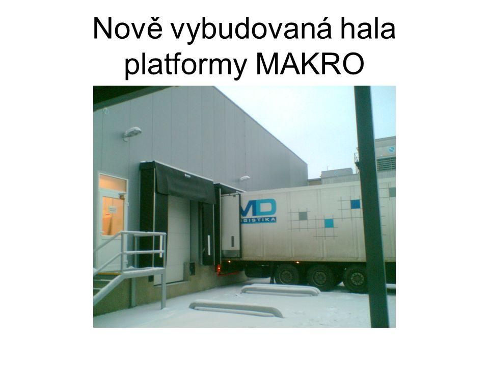 Nově vybudovaná hala platformy MAKRO